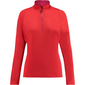 """Kaikkialla W's Eveliina Zipp Shirt 1/1 Bright Red"""